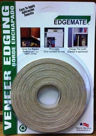"Pre-Glued White Birch 13//16/"" x 50/' Veneer Edge Banding"